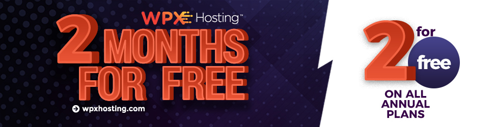Two months of annual fee! Get the best hosting on the market!