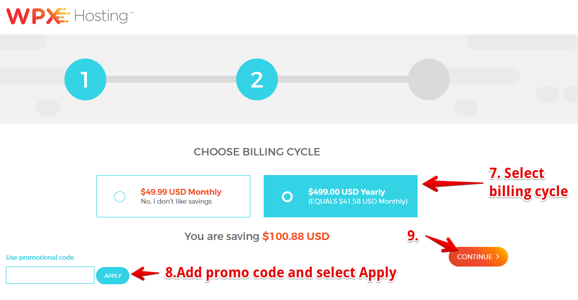 Choose your Billing Cycle