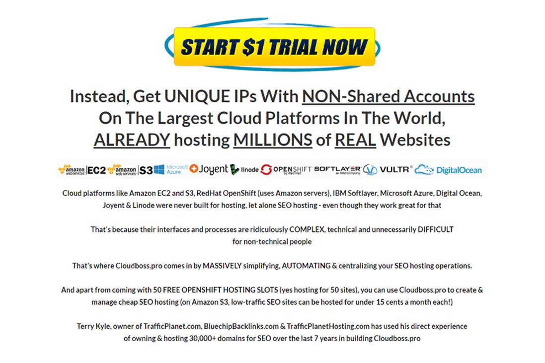 Cloudboss Pro $1 Trial
