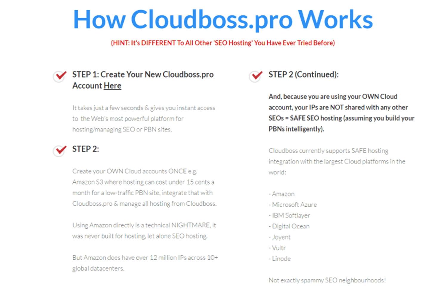 How Cloudboss Pro Works for you