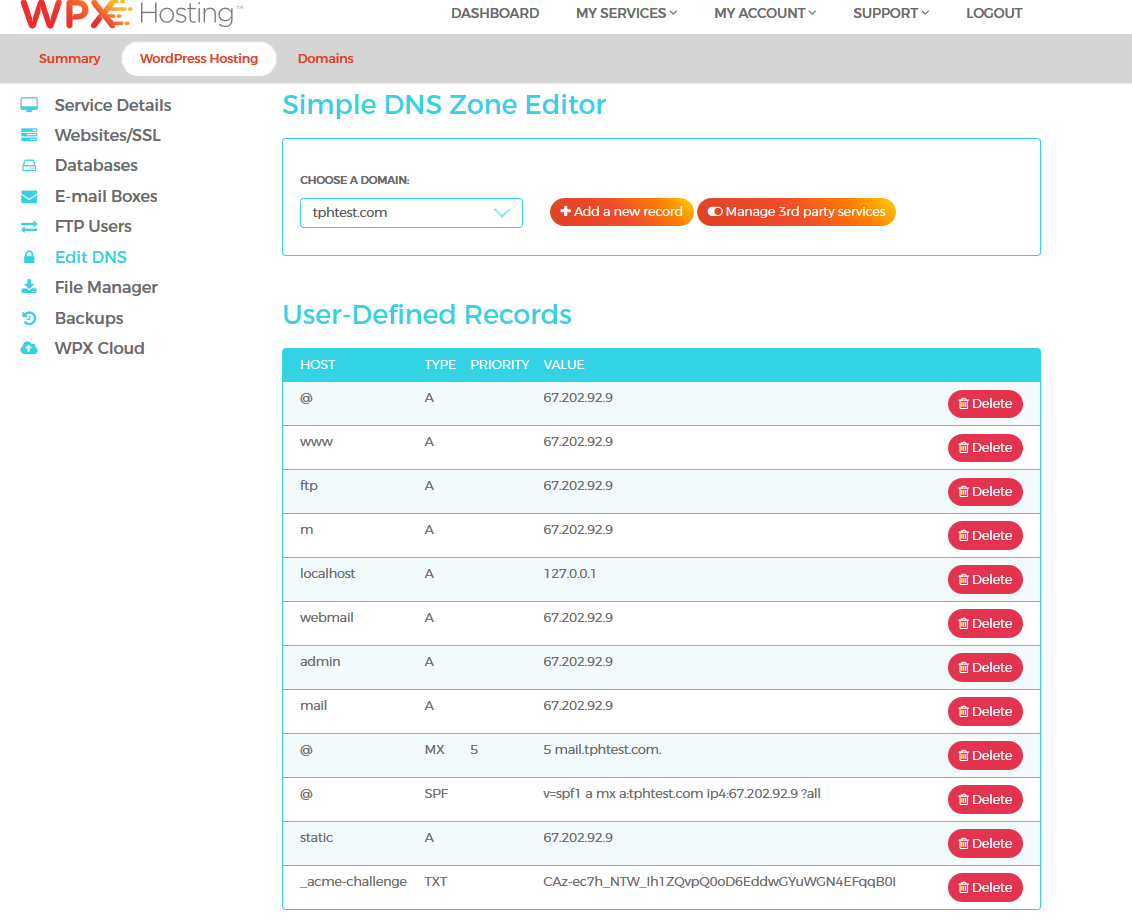 Simple DNS Zone editing here