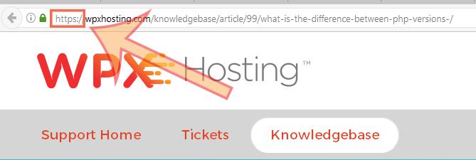HTTPS on URL