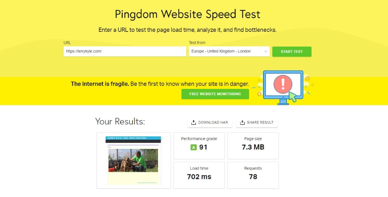 使用 WPX Cloud CDN 後網站速度非常快