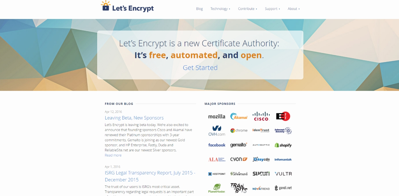 Let's Encrypt SSLs are free!
