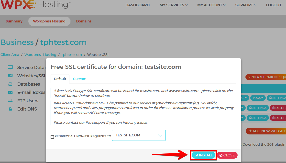 How to enable SSL