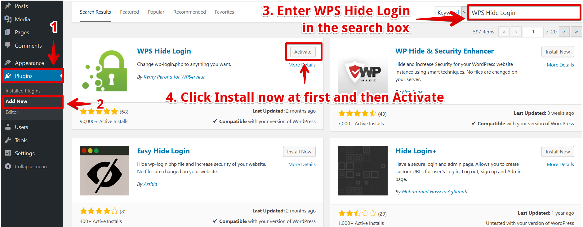 Get the WPS Hide Login plugin